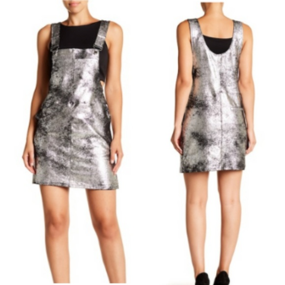 405f21b48 Blank NYC Dresses & Skirts - blank nyc black silver metallic overall dress  ...